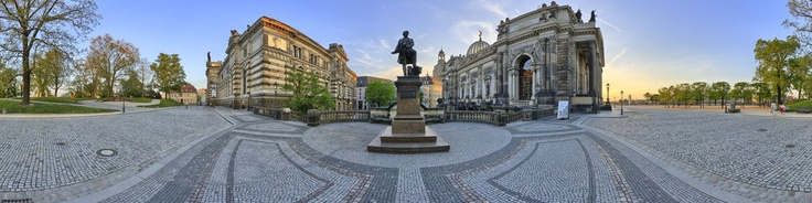 Saxony, Dresden ~ Georg-Treu-Platz und Brühlsche Terrasse