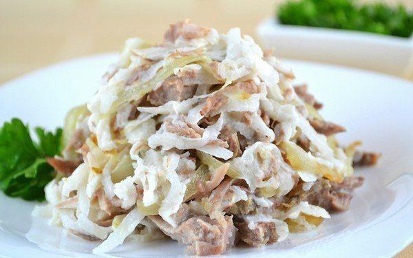 Вкусный мясной салат «Узбекистан»