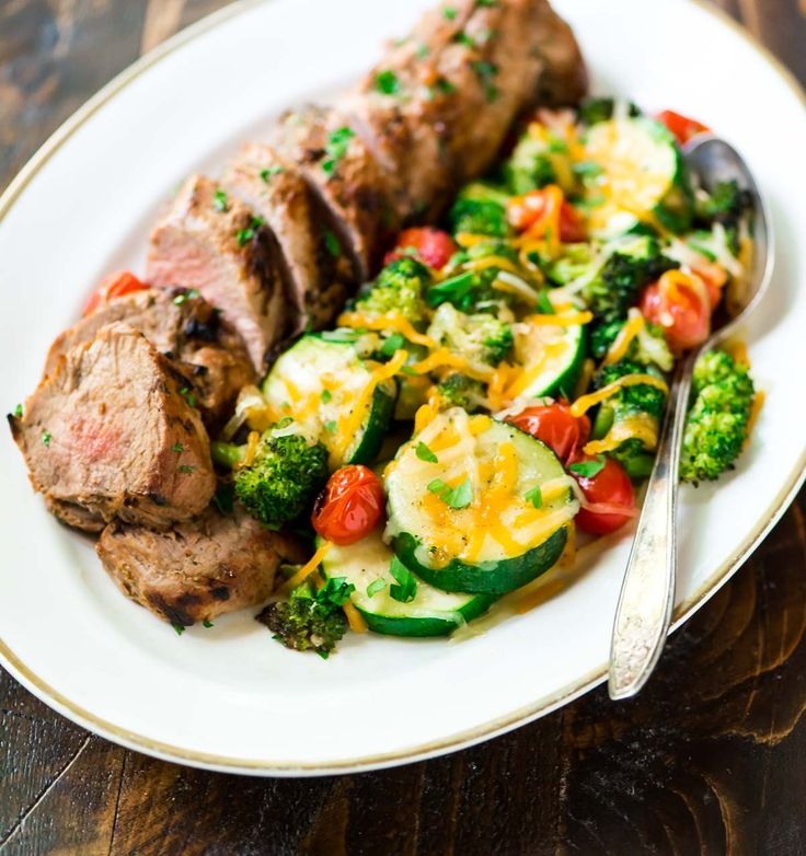 Mustard Pork Tenderloin with Grilled Vegetables in Foil. This is the ...