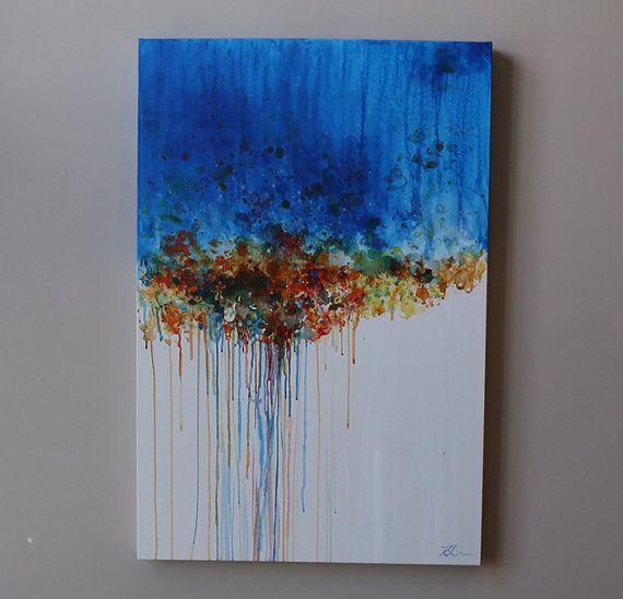 17 beste idee n over blauw schilderij op pinterest abstracte schilderijen abstracte kunst en - Bruin taupe schilderij ...
