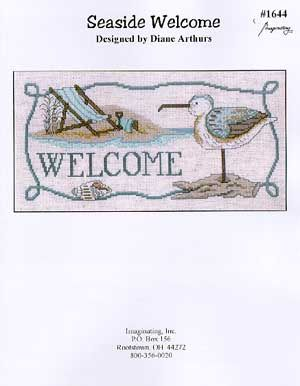 Imaginating Seaside Welcome - Cross Stitch Pattern - 123Stitch.com