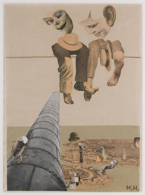 "collageoftheweek: "" Hannah Höch, Von Oben (From Above) 1926-1927 """