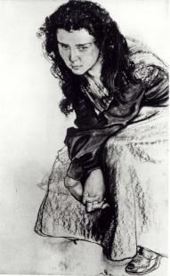 Portrait of Zofia née Pareńska Żeleńska Stanisław Wyspiański (1869-1907)