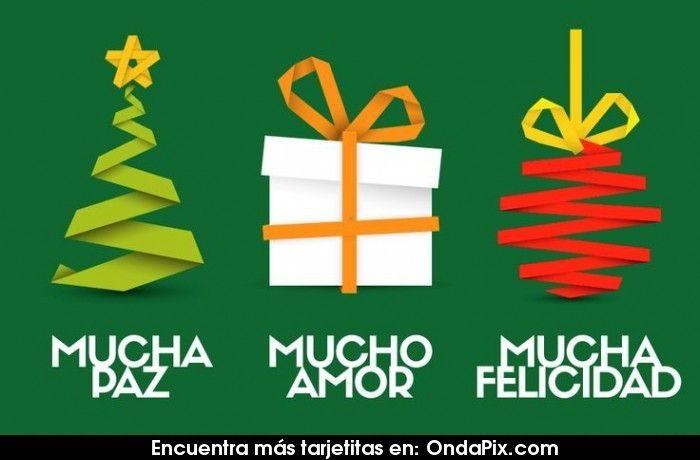 Para este año mucha paz, mucho amor y mucha felicidad