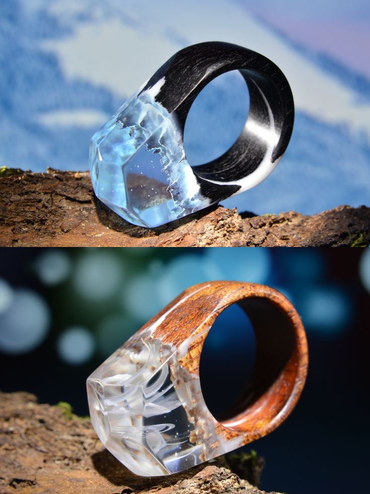So different wooden resin rings!