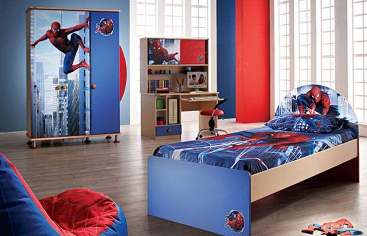 Spiderman Bedroom Ideas for Boys - http://www.timpyworks.com/spiderman-bedroom-ideas-for-boys/