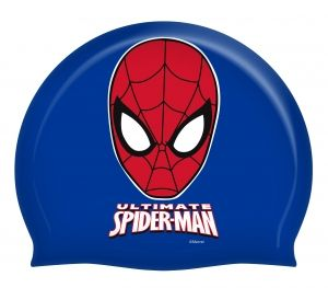 Dark blue swimming cap with Spiderman - perfect for your son. Must have at swimming lessons! #backtoschool
