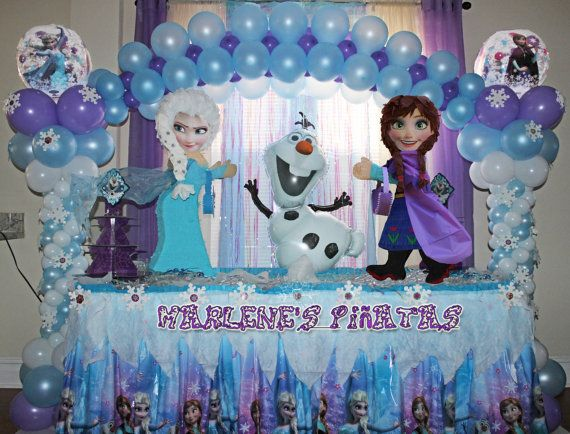Anna Or Elsa Frozen Pinatas By Marlenespinatas And Party