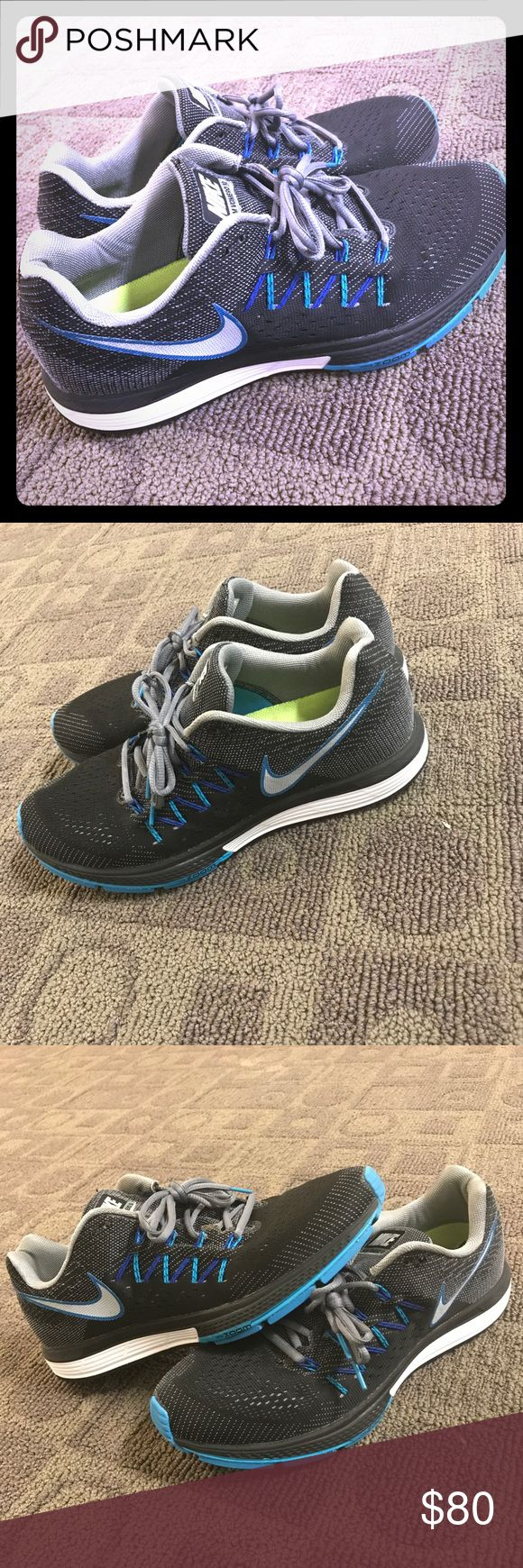 Black, blue, white, and grey Nike Vomero 10 Mint condition! Minimal wear. Nike Shoes Sneakers