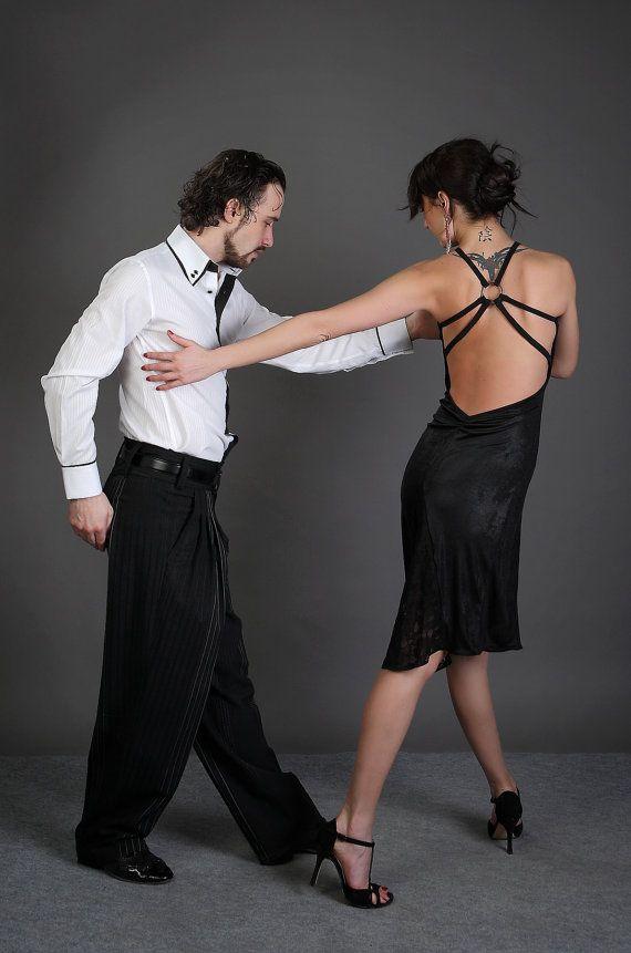 Sexy Tango-Kleid schwarz-Tango-Kleid Custom von AbrazosTangoWear