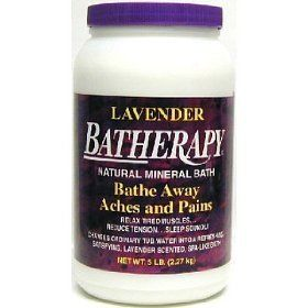 Lavender Batherapy Mineral Bath 5 Pounds by Queen Helene. $22.50. 5 Pounds Granule. Serving Size:. The aroma of Lavender has a long history as a relaxant that dates back to the Roman Empire. We have combined this Lavender fragrance with our exclusive Batherapy Salts, to create this unique new Lavender Natural Mineral Bath. Changes ordinary tub water into a refreshing, satisfying, lavender scented spa-like bath.
