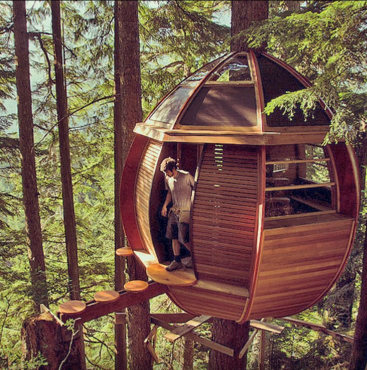 Looking to create tree-house pods like this one!