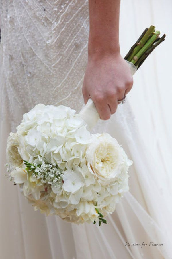 White Hydrangea Wedding Bouquets | pink wedding flowers Archives - Passion for Flowers ~ Blog