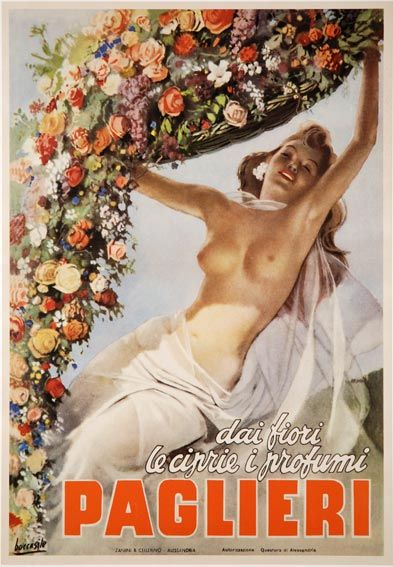 Vintage Advertising Posters | Paglieri - Francamente stento a credere che, dati i tempi, la censura abbia consentito una simile pubblicità...