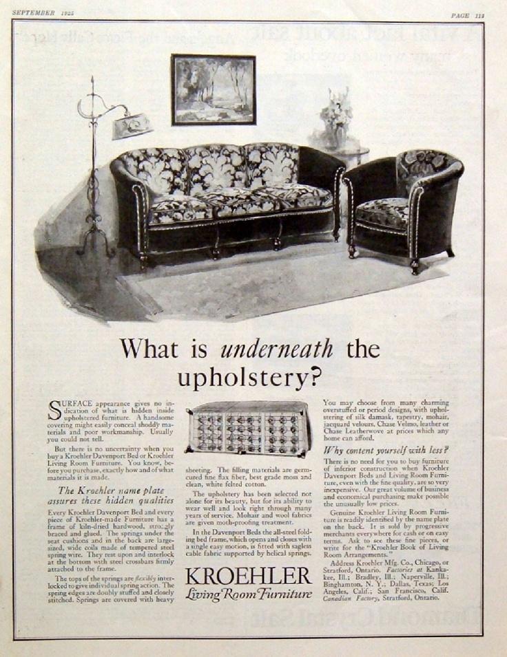 living room furniture sofa chiar standing lamp vintage print ad ebay