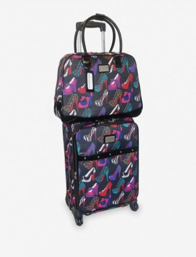 Rampage Shoe Fever 2-Pc Luggage Set only $50 w/Free Shipping!