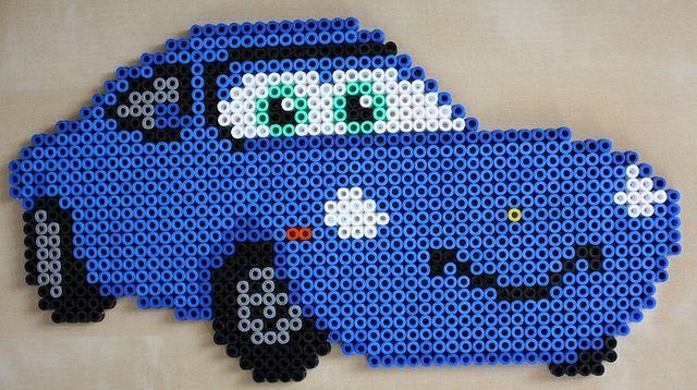 Sally Carrera Cars - Hama beads