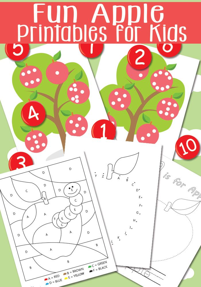 Fun Apple Printables for Kids