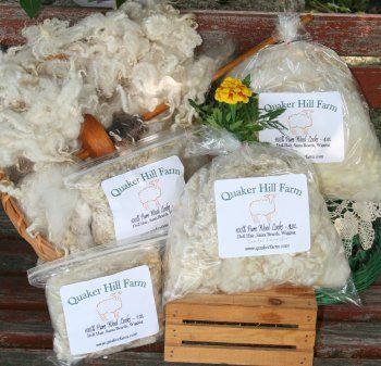 Quaker Hill Farm Wool, Doll Hair, Santa Beards, Craft Fiber, hand spinning