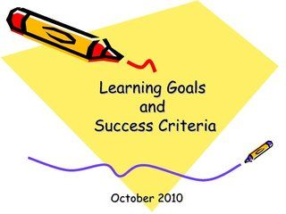 Learning+goals+and+success+criteria by Patrick Johnson, via Slideshare