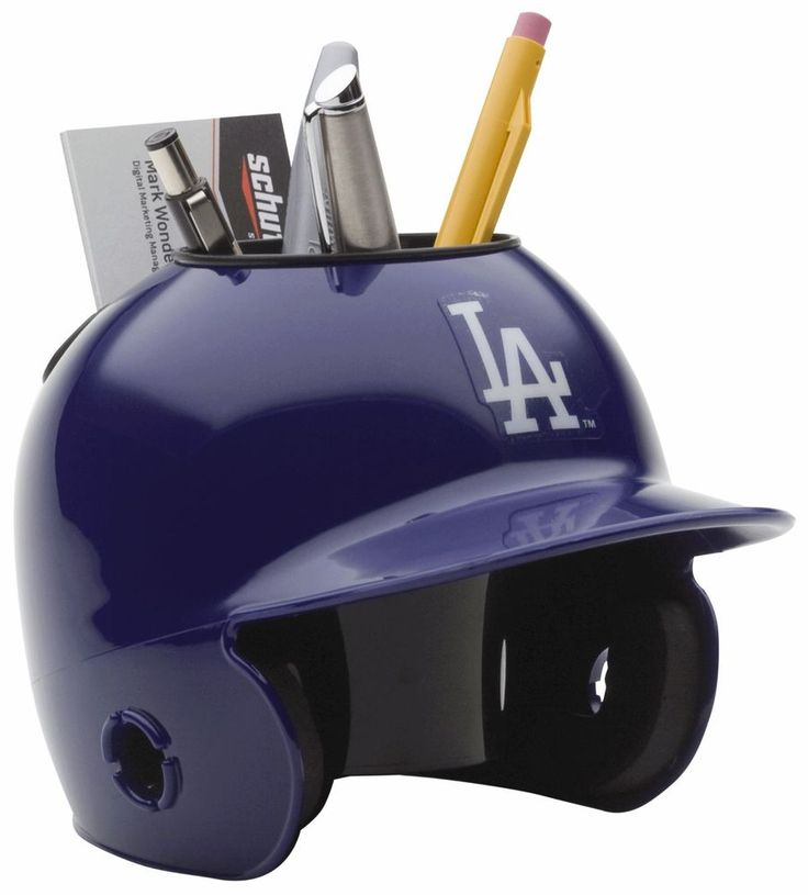 LOS ANGELES DODGERS MLB Schutt MINI Baseball Batter's Helmet DESK CADDY #LosAngelesDodgers