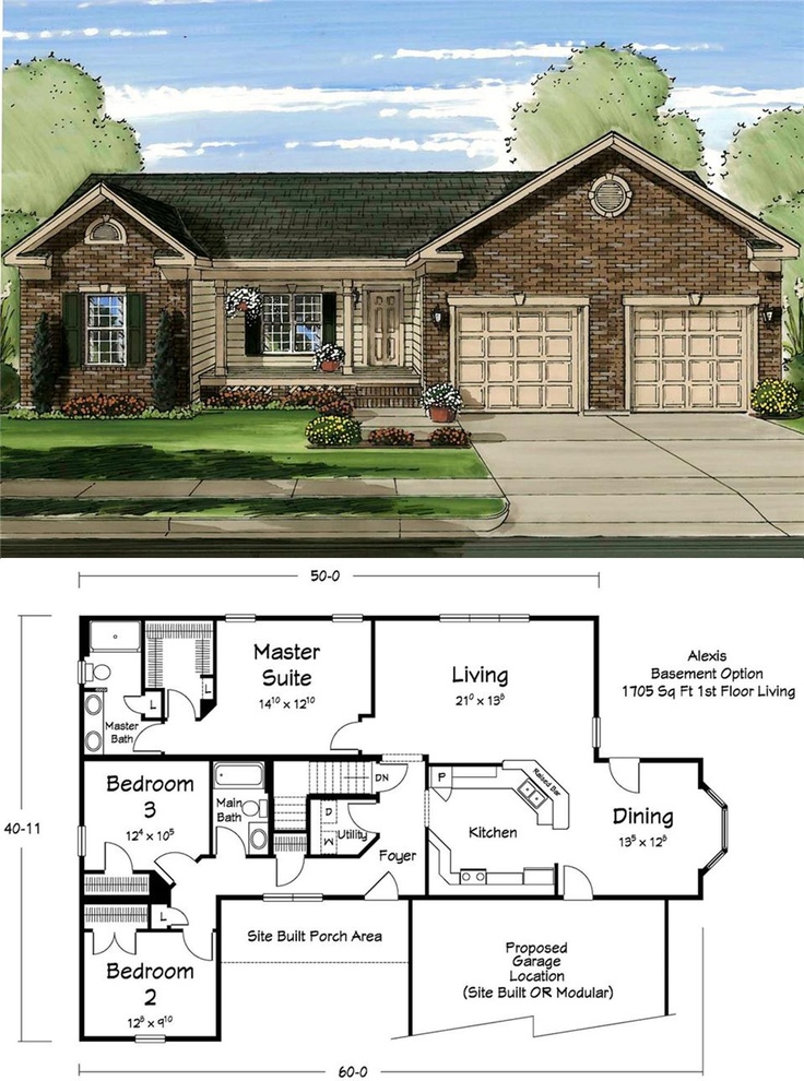 26 best ranch plans images on pinterest floor plans for Modular ranch plans