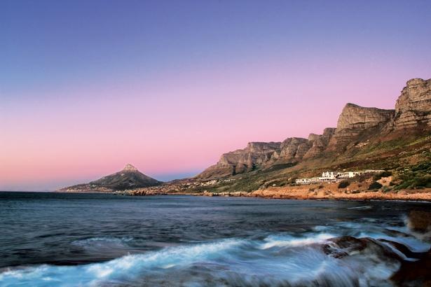 12 Apostles mountain range & Lions head in distance - Cape Town