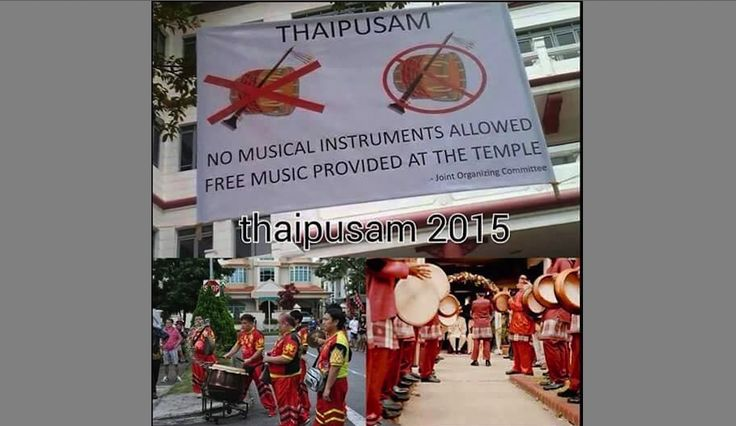 OPEN LETTER TO PM LEE: PLEASE ALLOW INDIANS TO PLAY INSTRUMENTS DURING THAIPUSAM