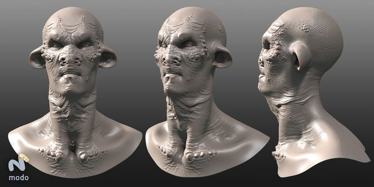 Creature Portrait (Modo 301 Beta Testing Work, 2007) , Zoltan Korcsok on ArtStation at https://www.artstation.com/artwork/0aORw