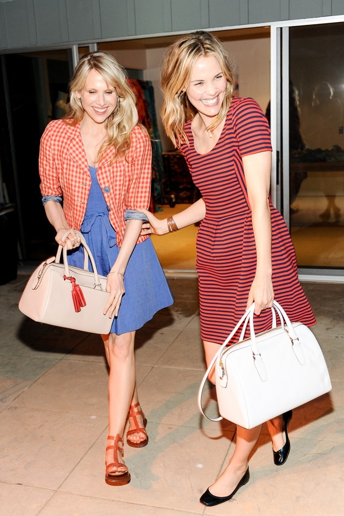 Lucy Punch and Leslie Bibb  at the Theodora & Callum and Coach Sunset Cocktail Party