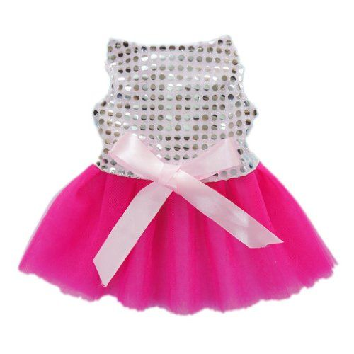 Fairy Pink Bling Bling Dog Dress for Dog Tutu Dress Fashion Dog Clothes Pet Clothes,M - http://www.thepuppy.org/fairy-pink-bling-bling-dog-dress-for-dog-tutu-dress-fashion-dog-clothes-pet-clothesm/