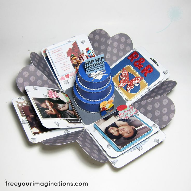 This is the Inside View of VALENTINE GIFT for girlfriend with R&R Design Theme Featuring Rotational 3D Love in the middle