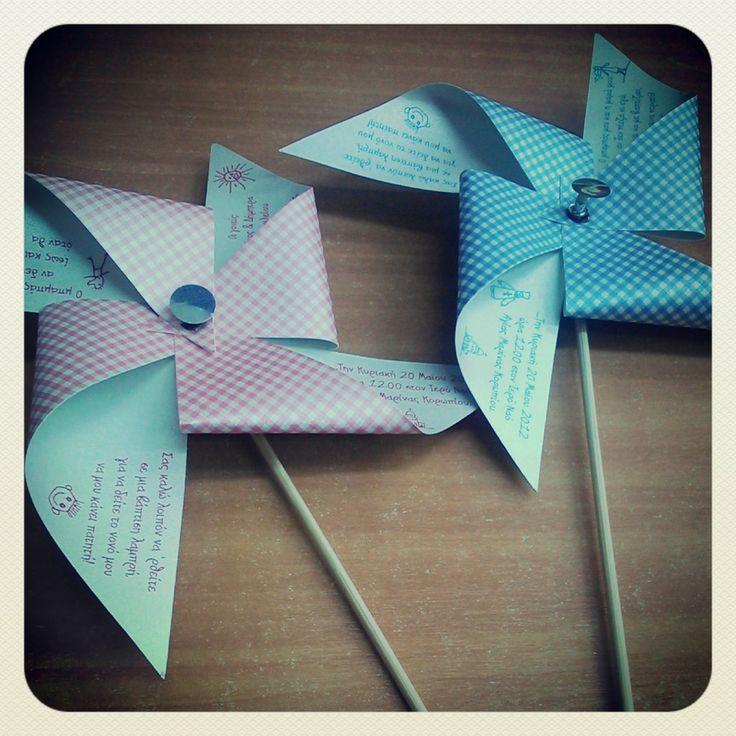 Windmill  #invitations for #baptism!