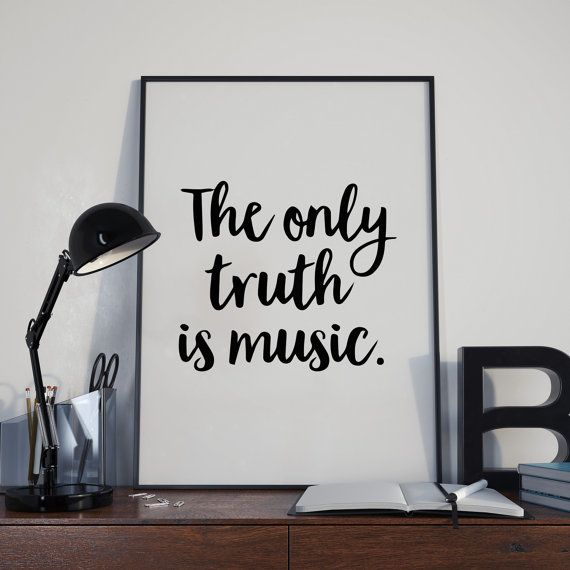 The only truth is music | Music quote | Positivity Quote | Positive Quote | Home Decor | Wall Art | Home Art | Typography | Print  #quote #wallhangings #homedecor #homeart #wallart #motivational #typography #motivationalquote #positivity #positivequote #inspirational #inspirationalquotes #print #digitalprint #newhomegift #housewarminggift #homequote #gift #present #art
