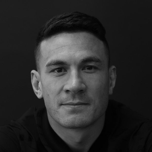 Image has been shot in black and white. Color version not available.) Sonny Bill Williams during the New Zealand All Blacks Headshots Session on June 11, 2017 in Auckland, New Zealand.