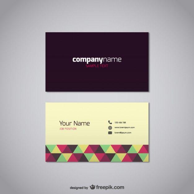 Visitenkarte Vorlage kostenlos Vektor Kostenlose Vektoren