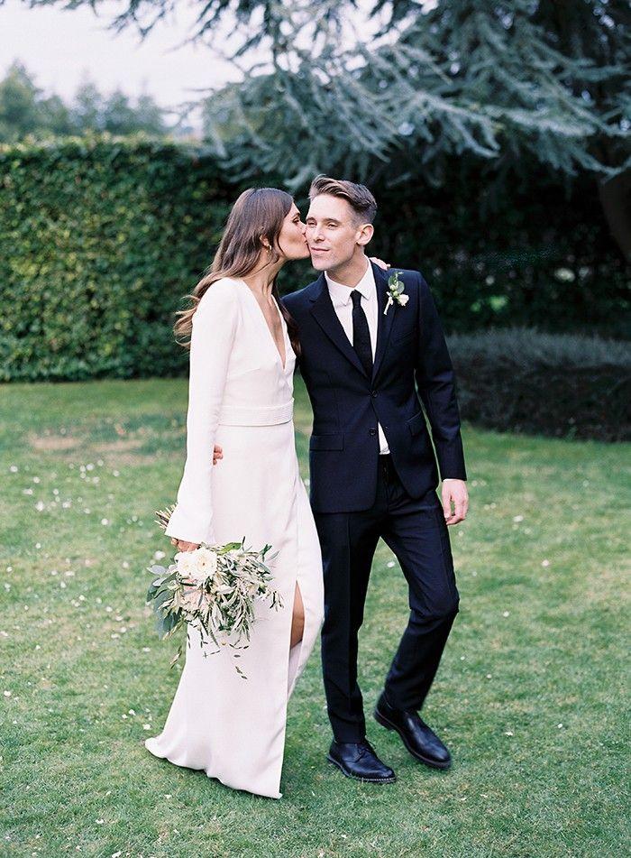 50 Beautiful Long-Sleeved Wedding Dresses: Modern Minimalist Wedding Dress