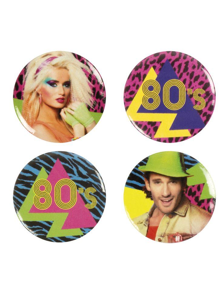 4 spille in onore dei mitici anni '80 su VegaooParty, negozio di articoli per feste. Scopri il maggior catalogo di addobbi e decorazioni per feste del web,  sempre al miglior prezzo!