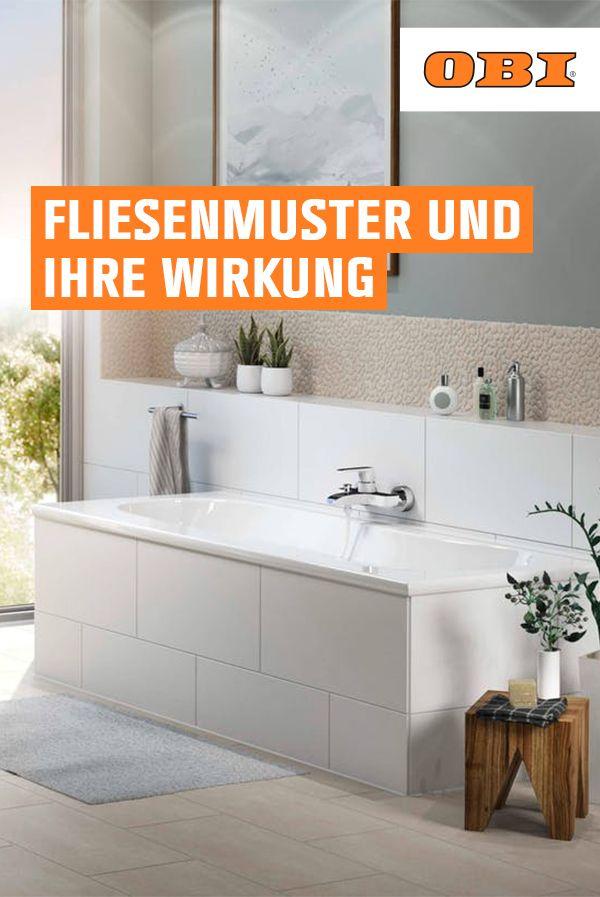 Fliesenmuster Und Ihre Wirkung Infos Ratgeber Obi Badezimmer Gestalten Fliesenmuster Badezimmer Innenausstattung