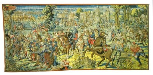 The Capture of Francis I, King of France by Charles V, at the Battle of Pavia in 1525:  Flemish tapestry 1528 (capodimontegallery.com)