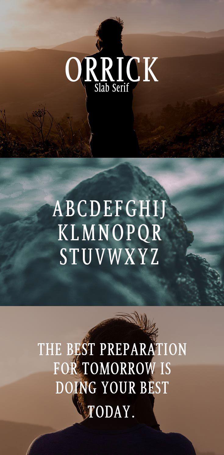 Free Orrick Slab Serif Font on Behance