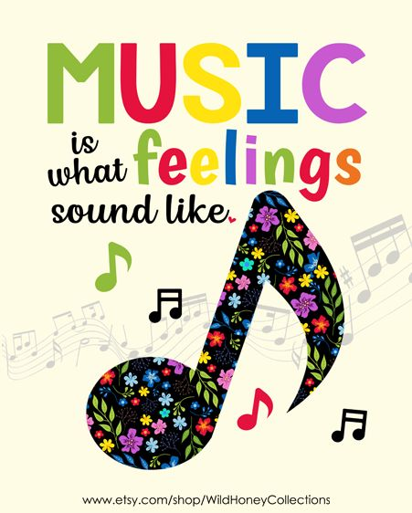 Music Is What Emotions Sound Like Printable Wall Artwork | Instantaneous Obtain | $5 Printables!