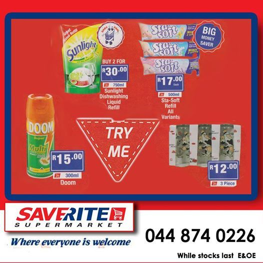 Limited time left to cash in on this months specials. With prices like this, who can afford not to visit Saverite Supermarket York Street? #supermarket #groceries