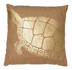 Turtle Jute Throw Pillow