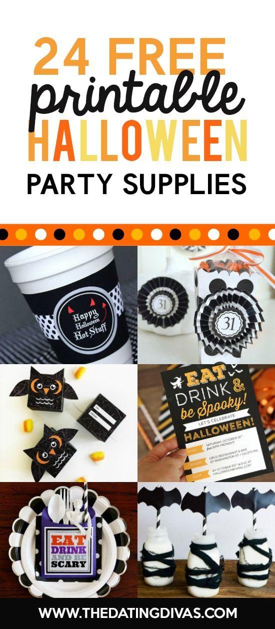 Halloween Party Supplies Printables Halloween Party Ideas
