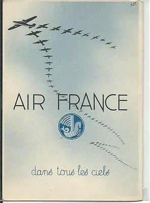 Air France airlines dewoitine w/bird formation poster type cont/l postcard