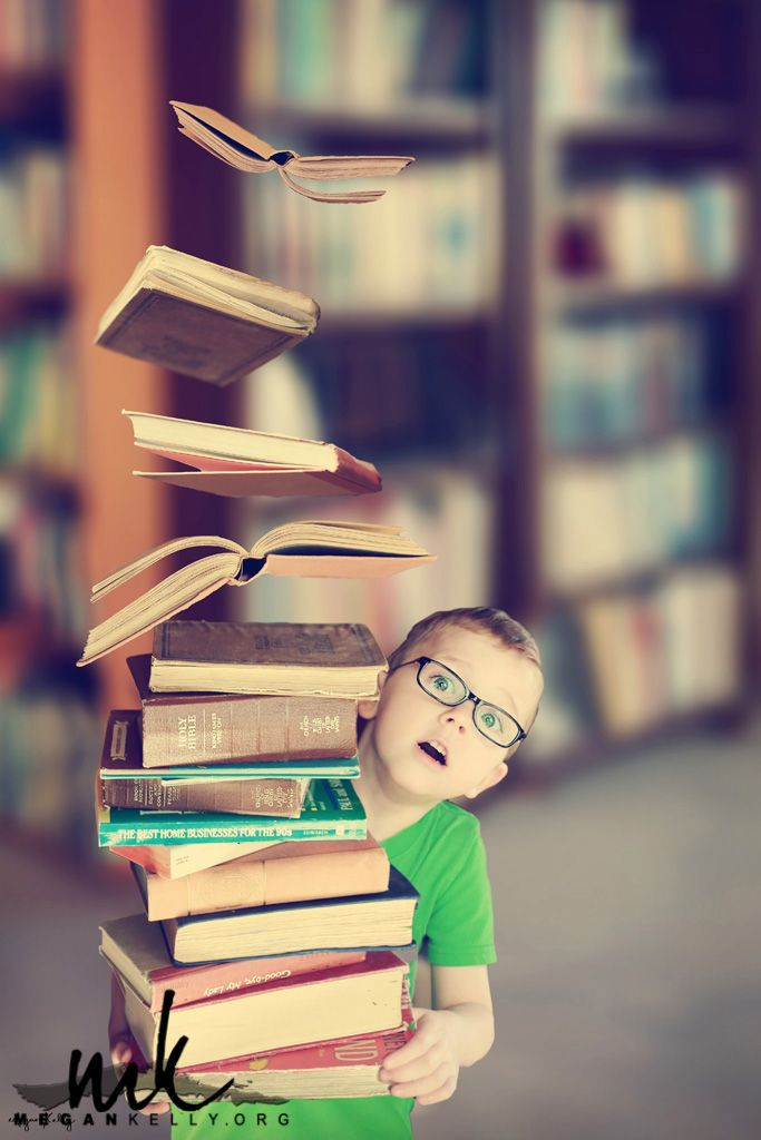 What an ADORABLE levitation photo! Love the floating books!