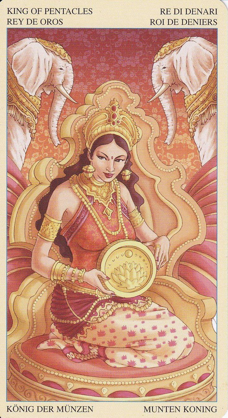 Lakshmi in Universal Goddess Tarot by Maria Caratti&Antonella Platano