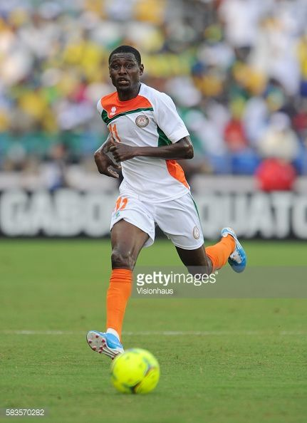 Issoufou Alhassane of Niger during the 2012 African Cup of Nations Group C match between Gabon and Niger at the Stade de l'Amitie in Libreville Gabon...