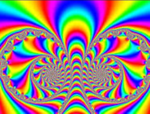 Watch closely. I love these kind of visual illusions, don't even need 'visual aids' to have a rockin' time:)